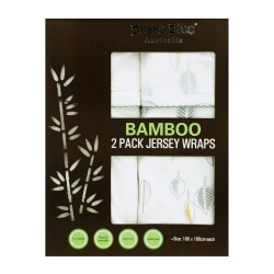 Bubba Blue Bamboo Leaf 2 PK Jersey Wraps