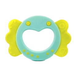 Farlin Dcotor J. Teether-Gingerbread Man Sweet Little Candy Heart (Sweet Little Candy Heart-Blue)
