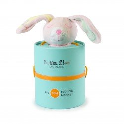 Bubba Blue Pink Bunny Security Blanket
