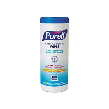 Purell Non-Alcohol, Non-Linting Sanitizing Wipes Citrus Scent (100 Wipes)