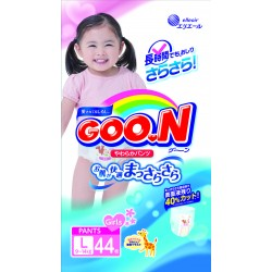 GOO.N JV Pants L44 Girls 4-Pack + FREE Water Pocket Lotion Tissue