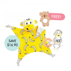 Splits Cuddle Blankie Set (FREE Wooden Teether)