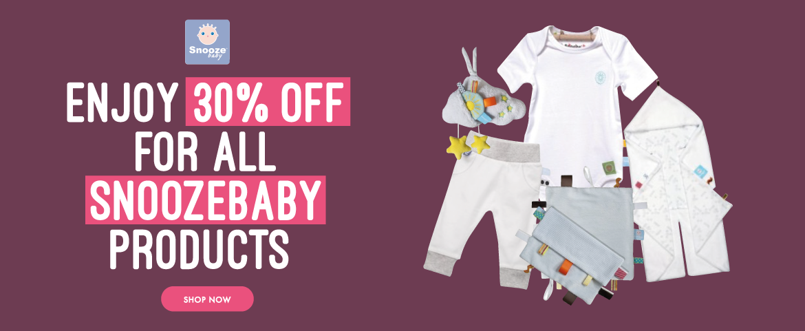 Enjoy 30 % off for all Snoozebaby product