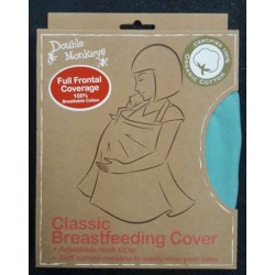 Double Monkeys Classic Breastfeeding Cover - front coverage (100% Organic Cotton)