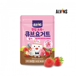 ALVINS Cube Yogurt Snack with Strawberry X 3 pkt