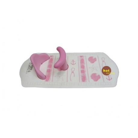 Bambino Bath Mat With Seat (Suction) Pink
