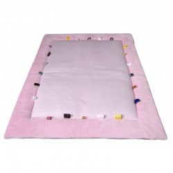 Snoozebaby Cheerful Playing Playing Cloth - Powder Pink
