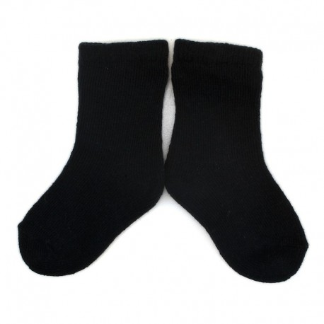 PLUSH® Stay on socks (0-2yrs) - Black