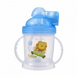 Simba Baby Training Cup with Straw (Blue)