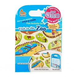 Quway Washable Stickers - Zoo
