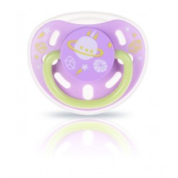 Kidsme Glow In The Dark Pacifier (Lavender)
