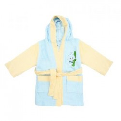 Bebe Bamboo 100% Bamboo Bathrobe Blue/Yellow (3-5YRS)