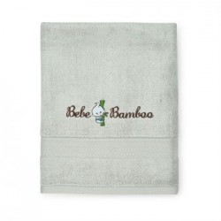 Bebe Bambo 100% Bamboo Kids Bath Towel - Gray