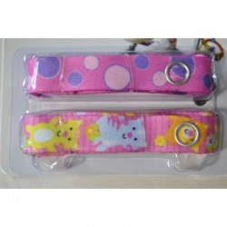 Bebe Avenue Toy Strap - Kitty/Pink Dots