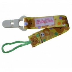 Bebe Avenue Pacifier Holder - Yellow Bear
