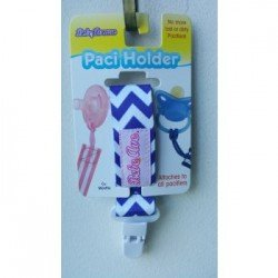 Bebe Avenue Pacifier Holder - Blue Chevron
