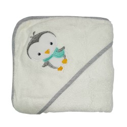 Bebe Bamboo Hooded Towel Penguin