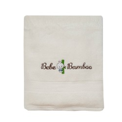 Bebe Bamboo - 100% Bamboo Kids Bath Towel - Whisper White