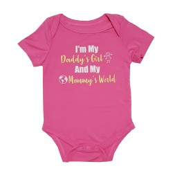 Bebe Bamboo  Cute Saying Onesie - Daddy' Girl, Mommy's World