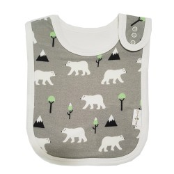Bebe Bamboo Adjustable Bamboo Bib (Polar Bear Grey)