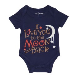 Bebe Bamboo  Cute Saying Onesie - I Love you to the Moon and Back