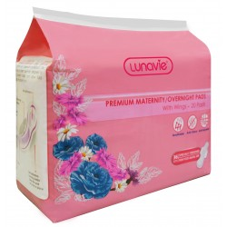Lunavie Premium Maternity/Overnight Pads (36cm) - 20pcs