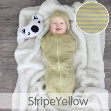 CuddleMe Hybrid Swaddle Pod-STRIPE YELLOW