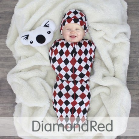 CuddleMe Hybrid Swaddle Pod-Diamond RED