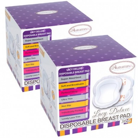 Autumnz Lacy Deluxe Disposable Breast Pads (36 pcs/pck) *TWIN PACK*